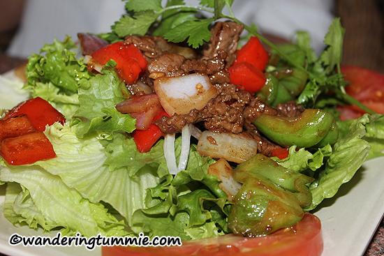 Mon Ami Garden Grove CA, beef salad, stir fried beef, steak, steak salad, beef vegetables, veggies, vegetables, salad, vietnamese food, vietnamese restaurant, french food, french restaurant, vietnamese french fusion food